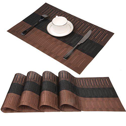 Sets De Table Famibay Lavables Sets De Table Bambou Lot De 4