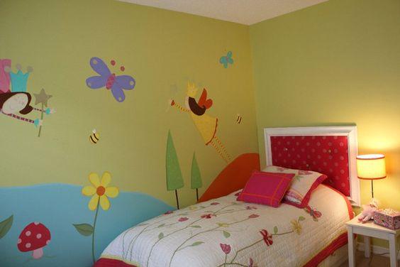 Girl bedroom, fairies, bugs, wall decor | Edmonton Children Bedrooms ...