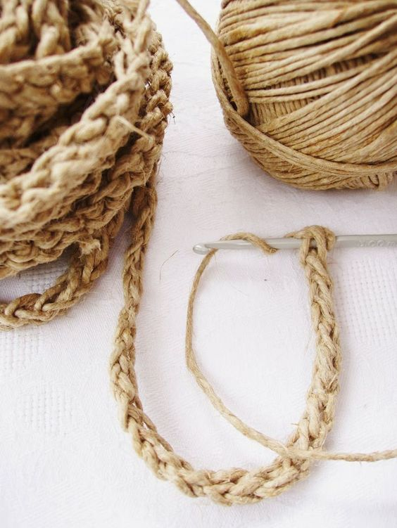 Crochet & Craft: HOW TO MAKE ROPE FOR CORD-SOLES.