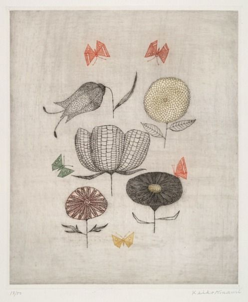 Keiko Minami - Flowers and Butterflies,1963