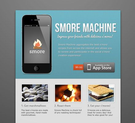Smore - Design beautiful online flyers and publish instantly - use to create a web page