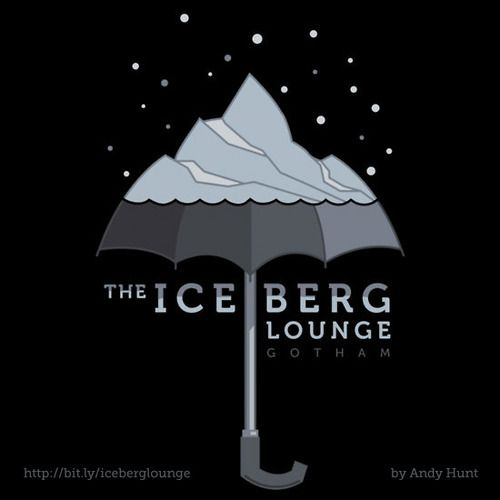 The Iceberg Lounge, Batman fan art by Andy Hunt, available at RedBubble