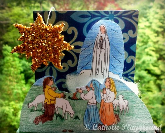 marian grotto: Our lady of Fatima Lesson, May 13th