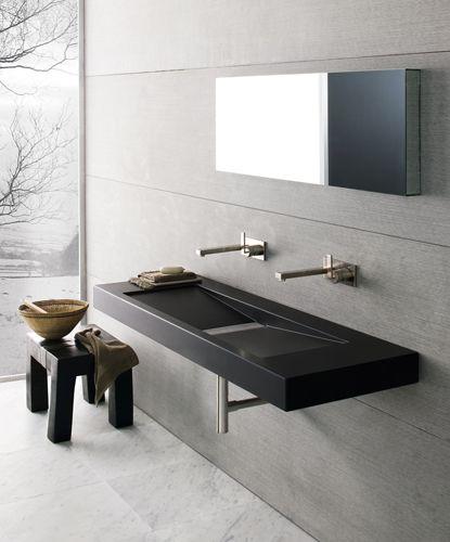 Concrete bathroom minimalistic trend industrial style for Modern industrial bathroom