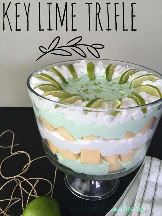 15 Minute Key Lime Trifle, Recipe, Key Lime, Pound Cake, Cool whip, Lime, Trifle, 15 minute, Cake,