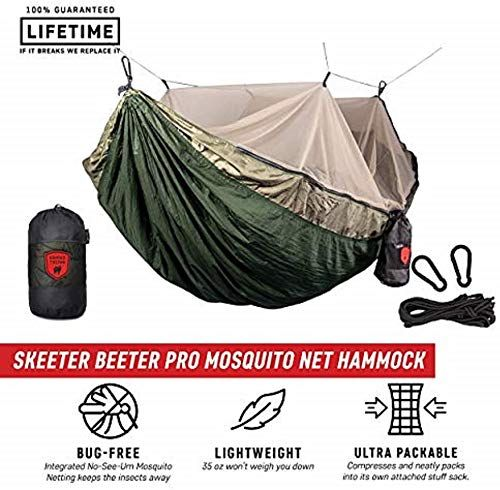 New Grand Trunk Skeeter Beeter Pro Mosquito Hammock Portable Bug Prevention Hammock With Carabiners And Hanging Hammock Camping Hammock Double Camping Hammock