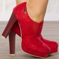 Boots à plateforme rouge femmes taille 38 talons de 11 cm