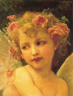 Cherub with Roses in her hair!♥