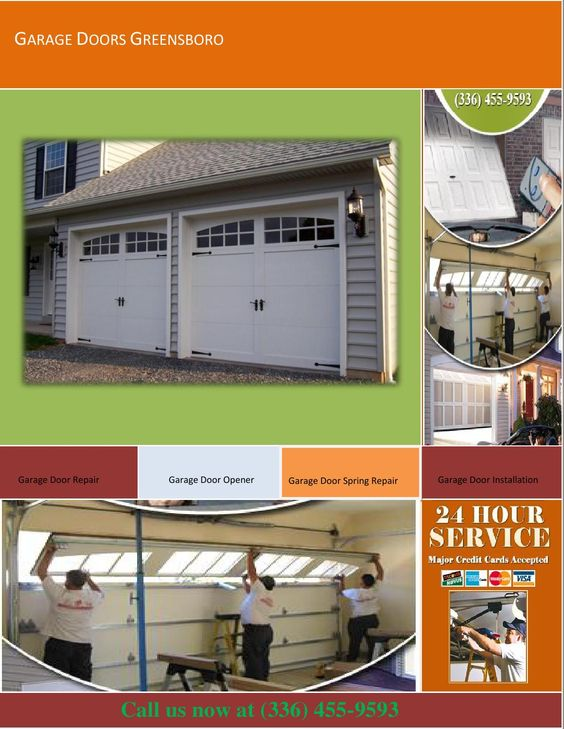 Garage Door Opener  Garage Doors Greensboro has a special system which allows you to open your garage door when you are not at home. This can easily be done over the internet so you do not have to make sure you are carrying the garage opener remote with you all the time.