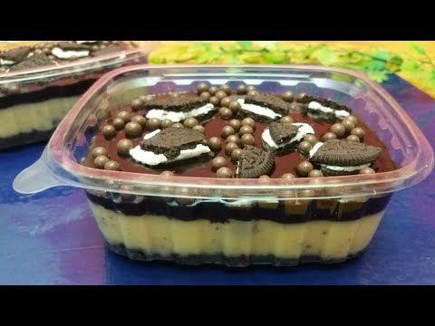 بوكس الاوريو حلي ب3 طبقات لذيذ وسهل التحضير من ألذ ما يكون قناة وصفة وأكلة Youtube Food Desserts Pudding