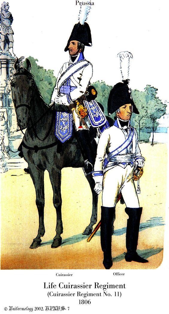 Prussian Cuirassiers, 1806.