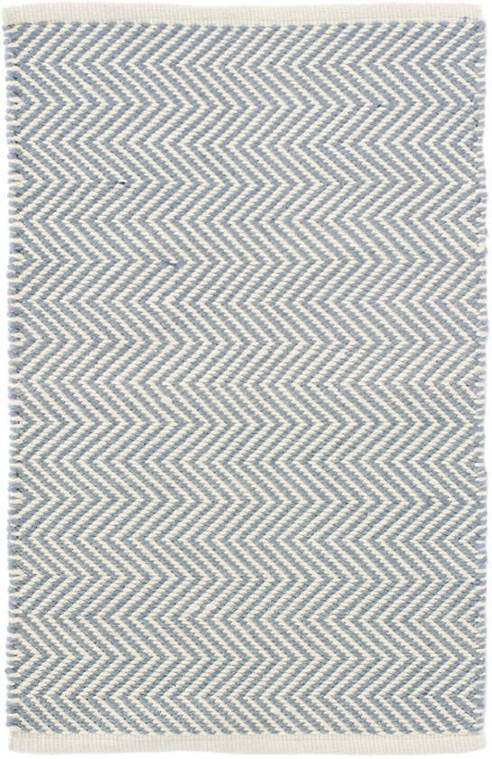 Arlington Swedish Blue Ivory Indoor Outdoor Rug The Outlet With