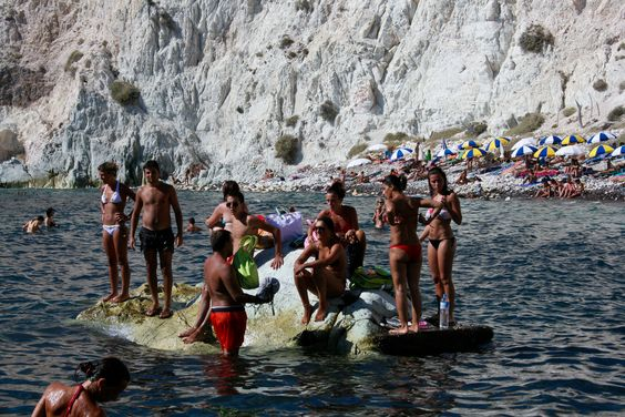 White sand beach, Sand beach and Santorini greece on Pinterest