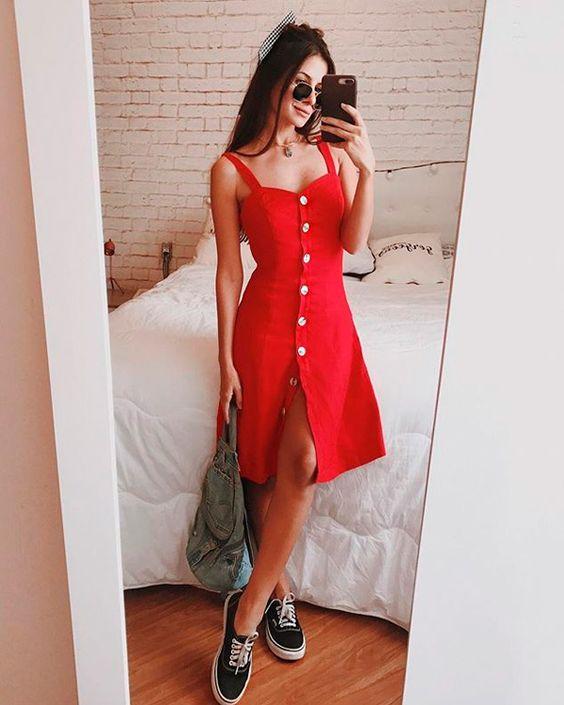 Viih Rocha - vestido-vermelho - vermelho - verão - street-style