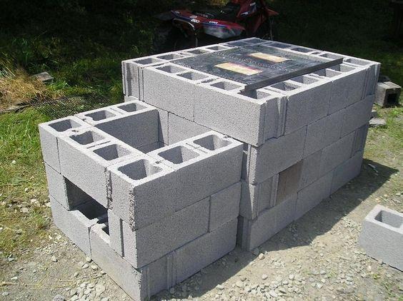 cement block grill