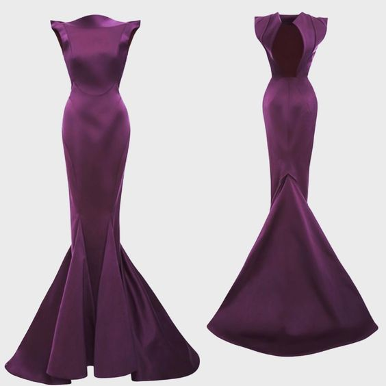 """#ZacPosen #glamour #prefall15 #purple #Gown Available for preorder on @modaoperandi"""