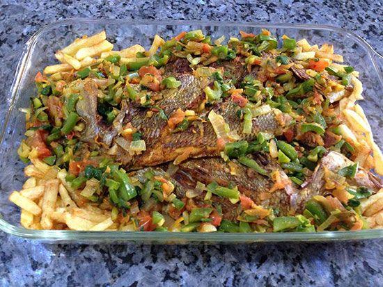 طرز تهیه ماهى و سبزيجات در فر