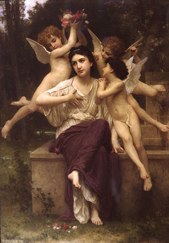 William Adolphe Bouguereau  A Dream of Spring