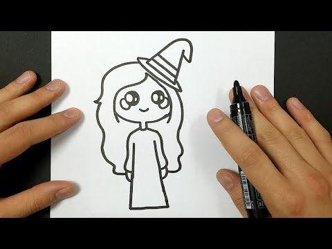 Comment Dessiner Une Sorcière Kawaii Halloween Youtube