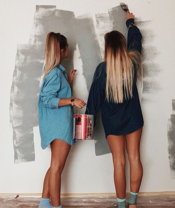 Living Together With Your Best Friend And Painting The Apartment
