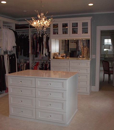 Custom closet dressing room.