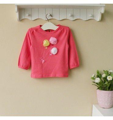 Mom and Bab Girls Longsleevess - Flower - sadinashop.com  T-shirt atau kaos lengan panjang untuk bayi dan anak perempuan.