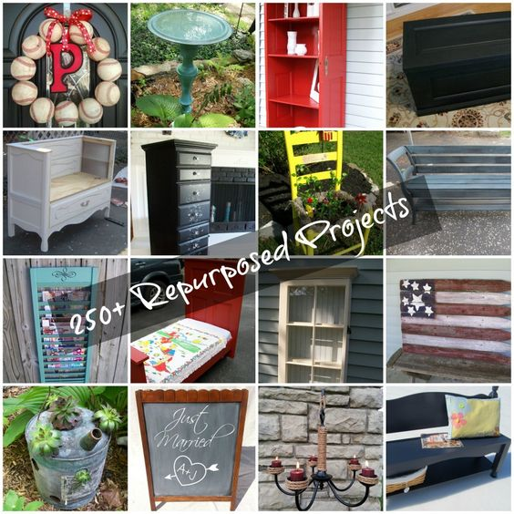 250+ Repurposed furniture, household items and more from MyRepurposedLife.com