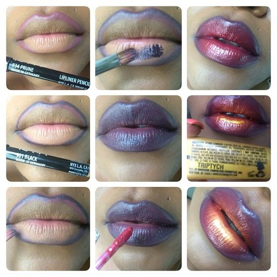 Step by step Ombre tutorial done by Ciera of MAKEUPNBEYOND.