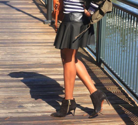 Beaute' J'adore: DIY Leather Yoke Mini Skirt