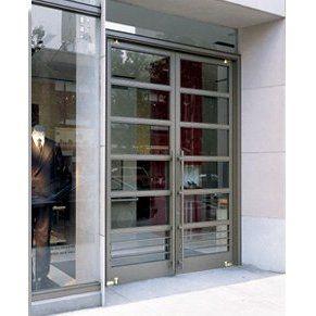 Double exterior commercial glass doors ellison bronze for Commercial exterior doors