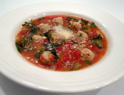 There's always thyme to cook...: Italian Wedding Soup with Turkey Meatballs