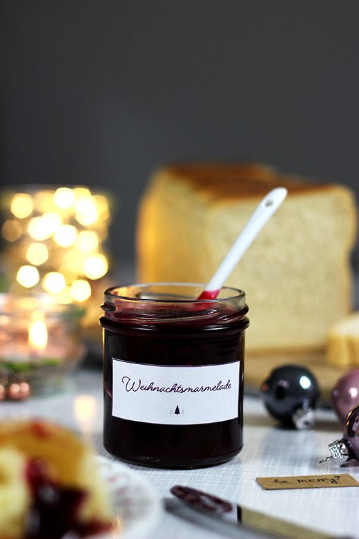 Weihnachtsmarmelade mit Cranberries, Zimt und Orangen *via Holunderweg18