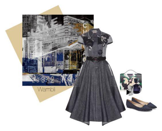 """Wambli Denim Dress"" by wambliwakan ❤ liked on Polyvore featuring The Artwork Factory, Bottega Veneta, Vince Camuto, Emilio Pucci, VIVETTA, Lacoste, Sophie Buhai and denim"