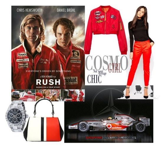 """F1"" by faheemak ❤ liked on Polyvore featuring Vero Moda, Rolex and Prada"