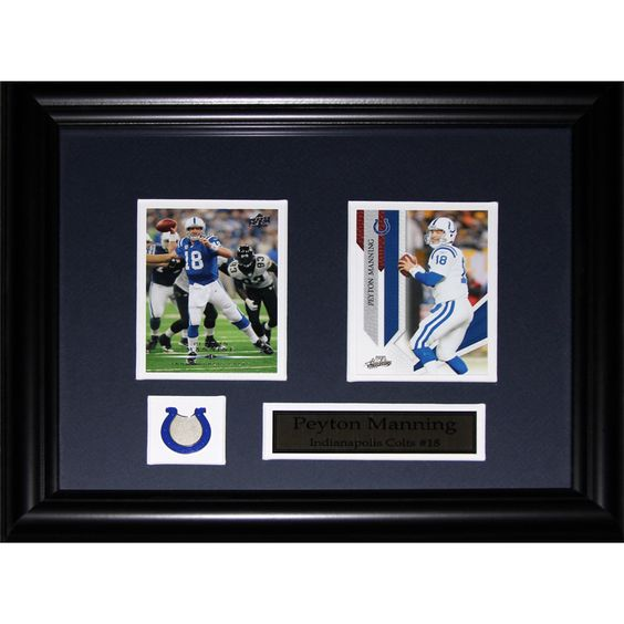 Midway Peyton Manning Indianapolis Colts 2-card Frame