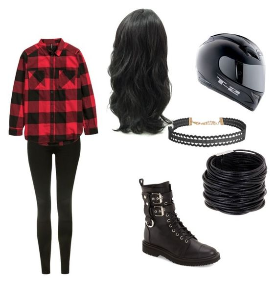 """Biker: Black and Red"" by senpaishrine ❤ liked on Polyvore featuring Topshop, Giuseppe Zanotti, Humble Chic and Saachi"