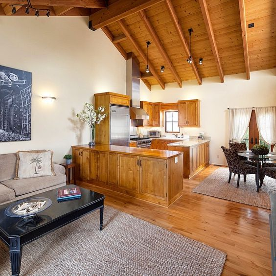 We love all the natural hardwood in this luxury townhouse in Santa Barbara. And the vaulted ceilings really open up the space! Learn more on our Featured Listings page on our website -- link in profile. #SantaBarbaraBrokers #SantaBarbara #Realtors #Montecito #Townhouse #Natural