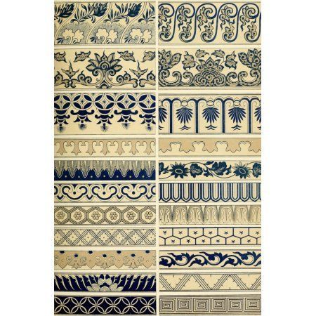 Examples of Chinese ornament 1867-18 Canvas Art - (18 x 24)