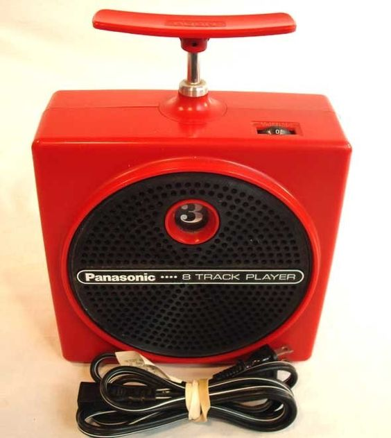 8-track tape player.