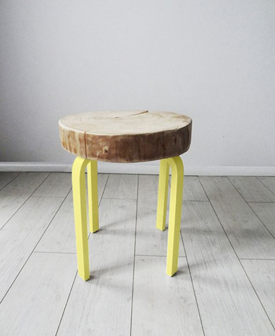WOOD SLICE STOOL/TABLE