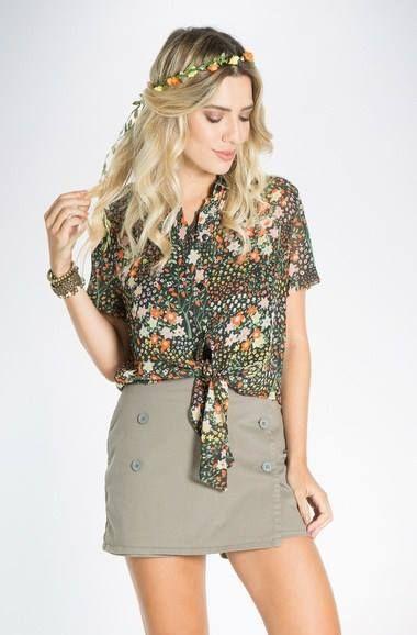 Compartilhe esse look pra não esquecer!!   Camisa floral  COMPRE AQUI!  http://imaginariodamulher.com.br/look/?go=2d2iTmn