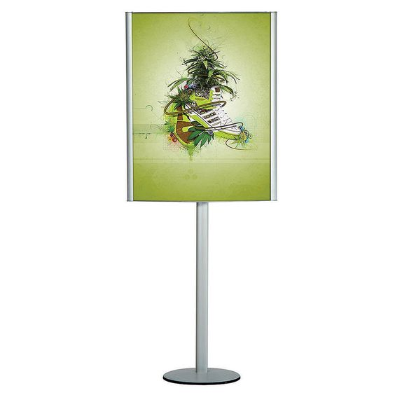 Free Standing Leaflet Display Convex Box 24W x 36H Poster Width