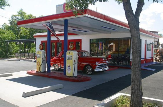 1950's gas stations - Bing images