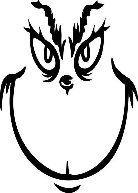 Image Result For Printable Grinch Face Template Natal Grinch Grinch Estampas