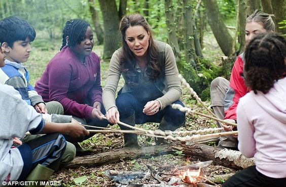 Campfire chinwag: When asked what it was like to be a princess by eight-year-old Tigerlily Smith during a visit to a camping trip in Kent, the Duchess of Cambridge replied it was 'very nice'
