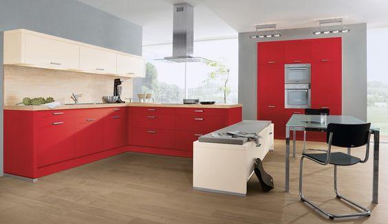 Einbauküche Adina Rot