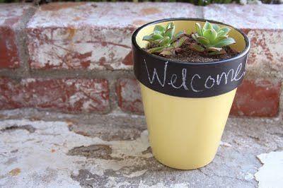 como pintar potes de plantas - Google Search