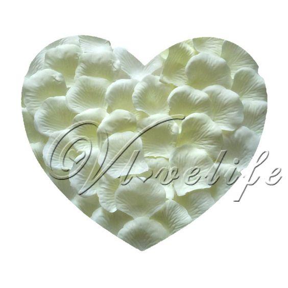 1000 Ivory Silk Rose Petals £3.71  http://www.ebay.co.uk/itm/1000-Ivory-Silk-Rose-Petals-Wedding-Party-Flower-Favors-/400197631897?pt=AU_WeddingSupplies&hash=item5d2da33f99