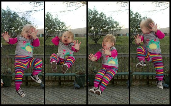 jumping bee. this guy takes funny photos with his daughter. check it out!
