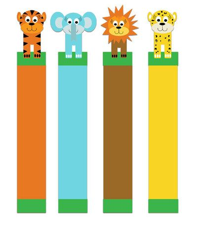 Jungle critter bookmarks to print by mina keenan e printables and